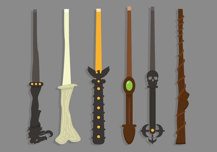 Magic stick illustration vector