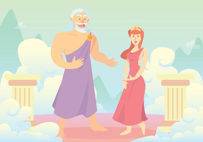 Hercules' Parents Vector Background
