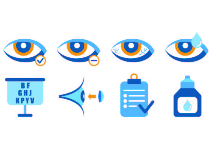 Set Of Eye Doctor Icons vecteur