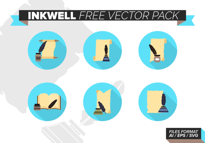Inkwell gratuito Pacote Vector