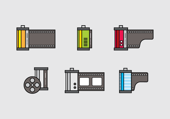 Film Canister Icon Vector Set