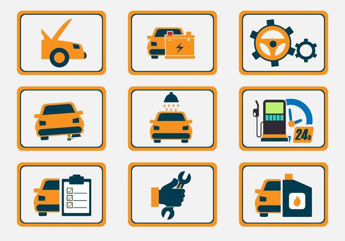 Auto Body Repair Icon Vectors