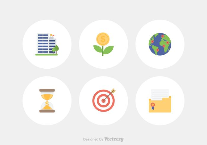 Flat Business Vector Icon Set