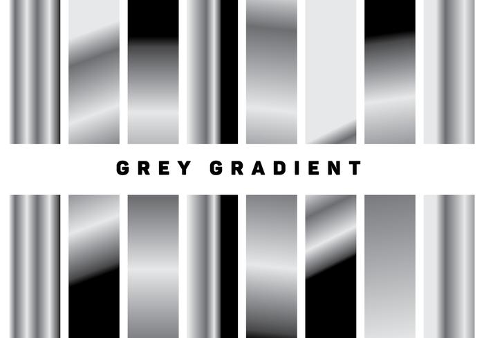 Metal Grey Gradient Vectors