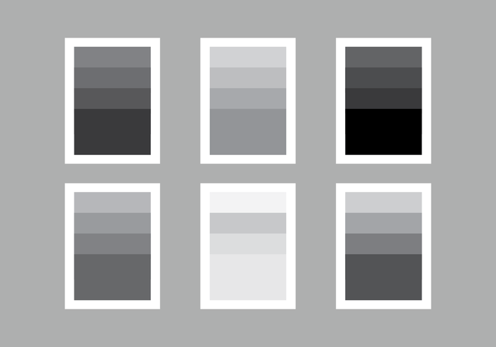 Stel Kleurenpalet Of Grey Gradient Vector