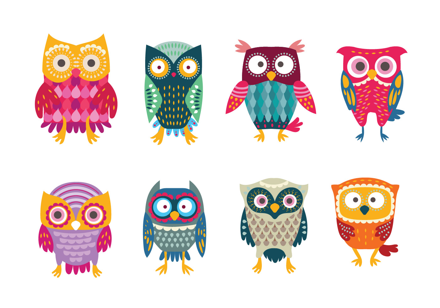 colorful cute owl vector - photo #21