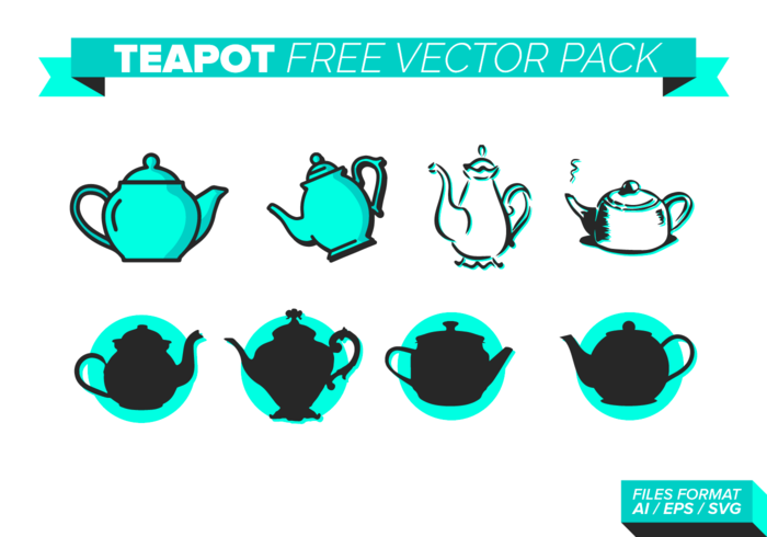 Teapot Free Vector Pack
