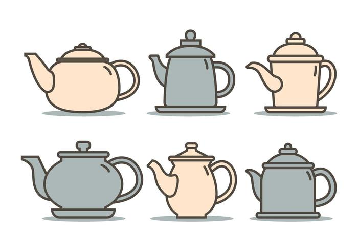 Cute teapot illustration vector