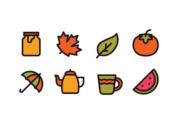 Herfstseizoen Icons