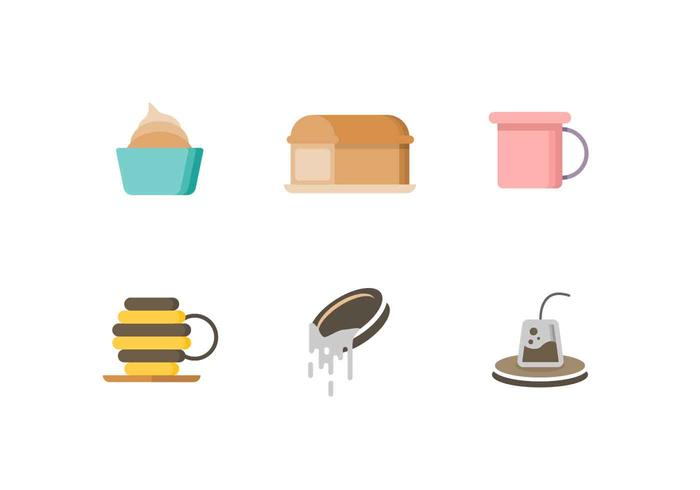 Free Cute Tea Time Objects Vector