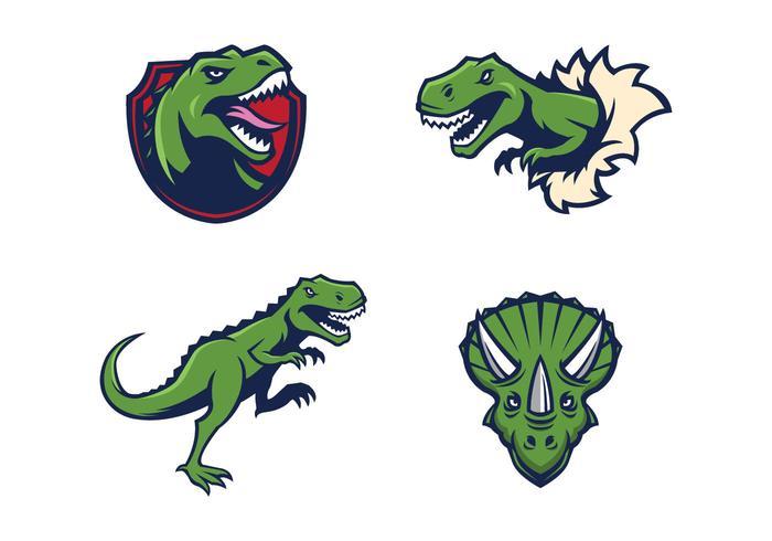 Fria Dinosaurs Mascot vektor