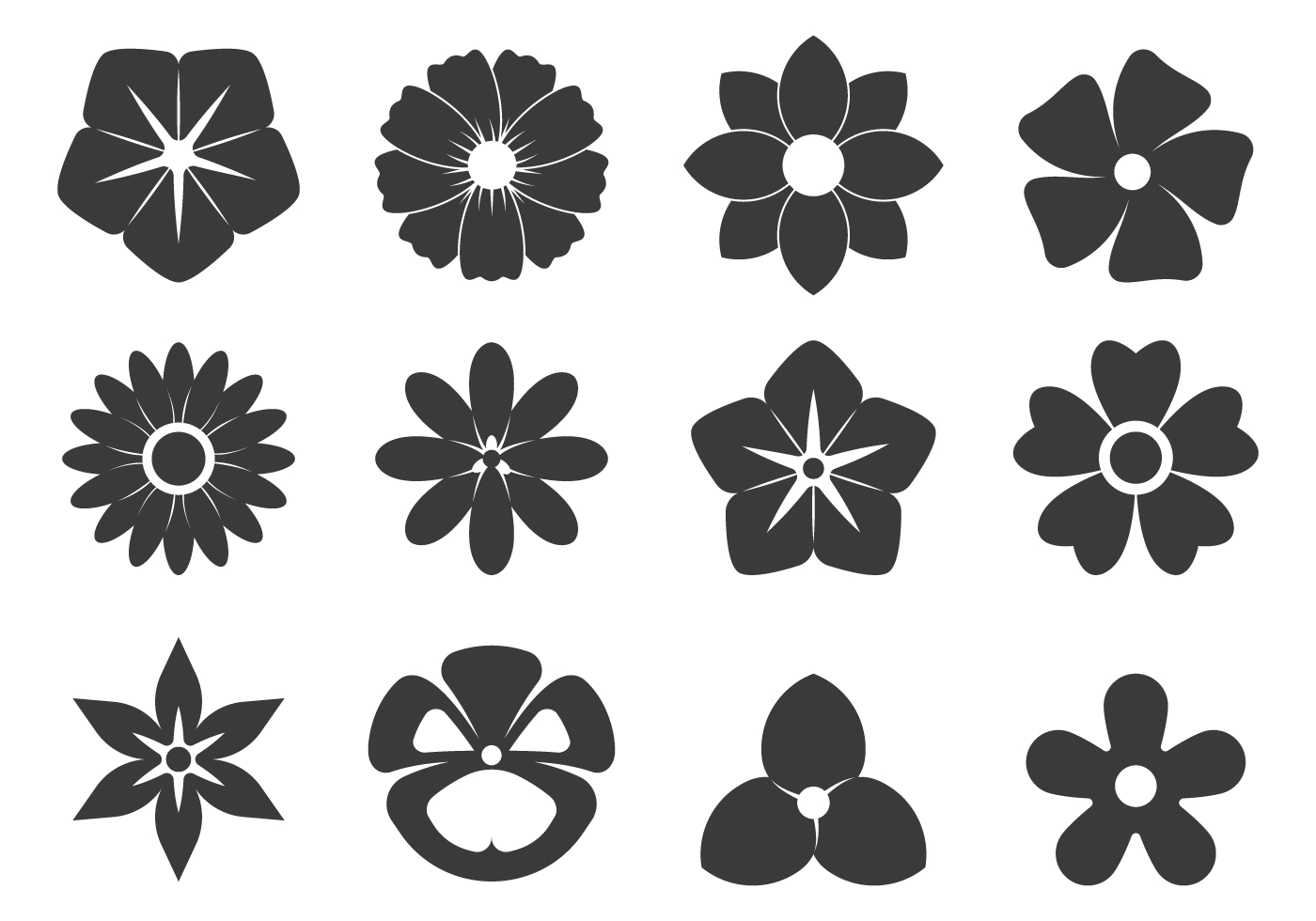 Black Flower Free Vector Art 3 033 Free Downloads
