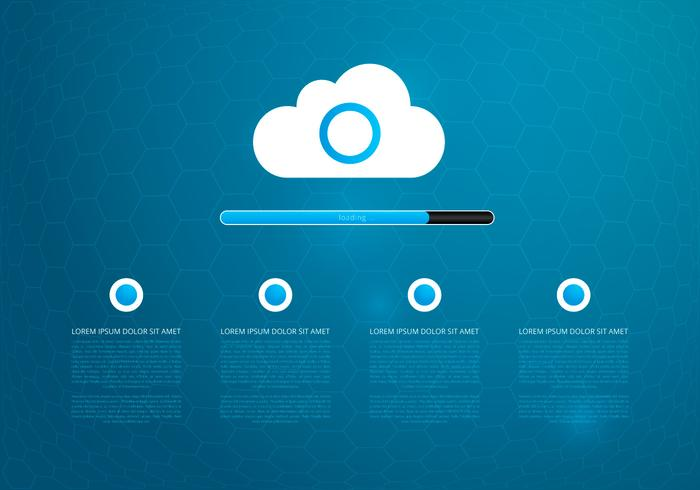 Tecnologia Cloud Computing Template Background