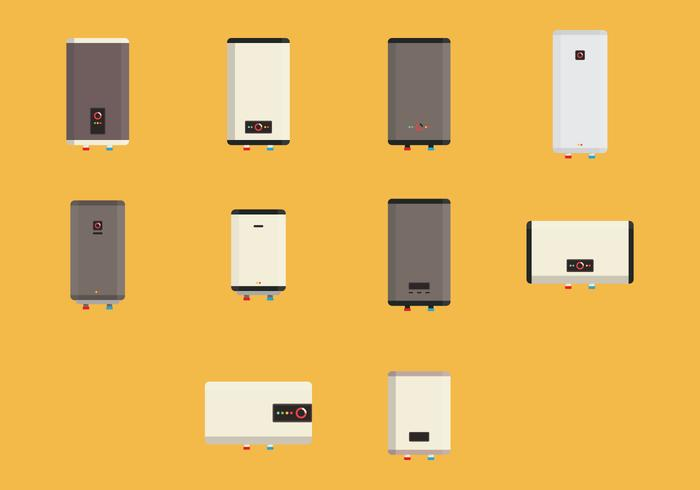 Colored Heater Icon Set