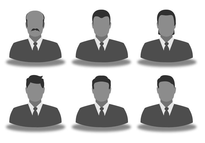 Set di icone di uomo d'affari vettore
