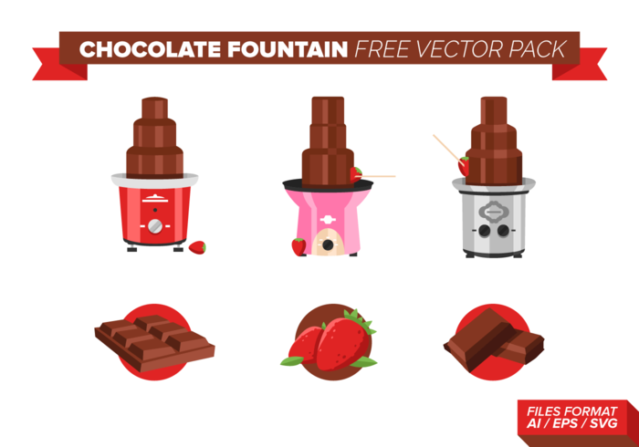 Fountain Chocolate Gratis Vector Pack