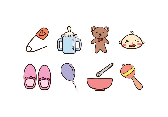 Icon Set van de baby