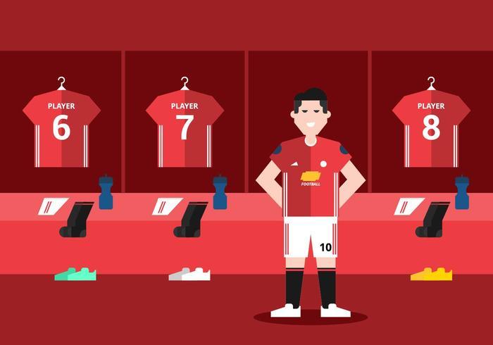 Red Soccer Omklädningsrum
