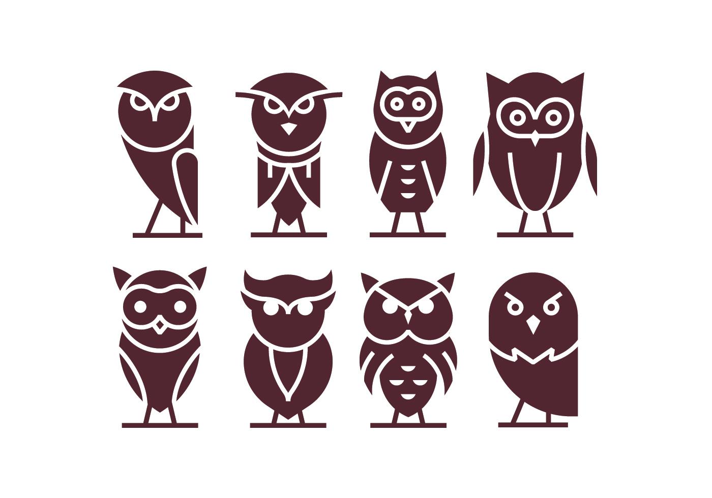 Iconos del vector Buho - Descargue Gráficos y Vectores Gratis