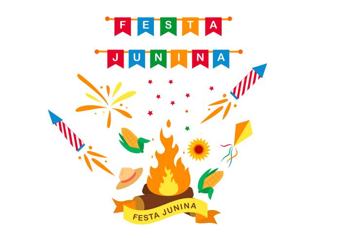 Festa Junina Poster Design vector
