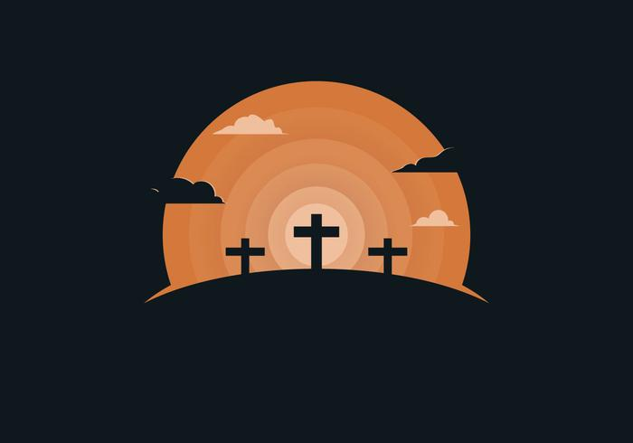 Free Holy Week Background Illustration vector