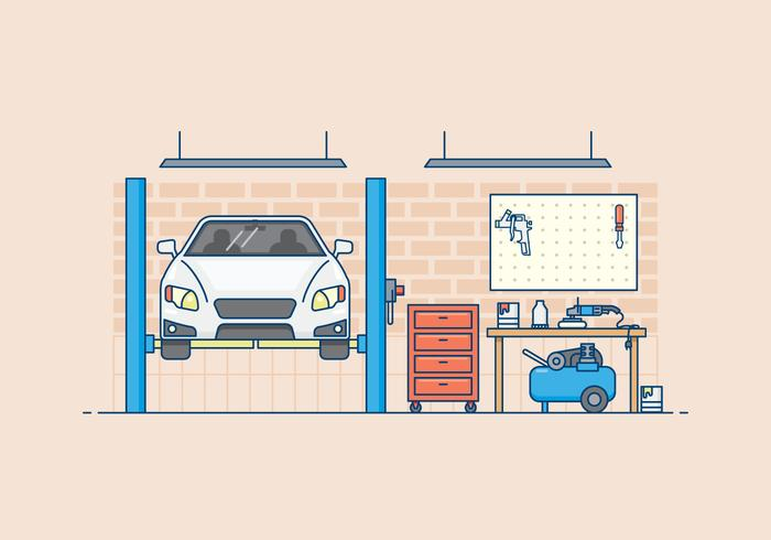 Free Auto Body Garage Illustration