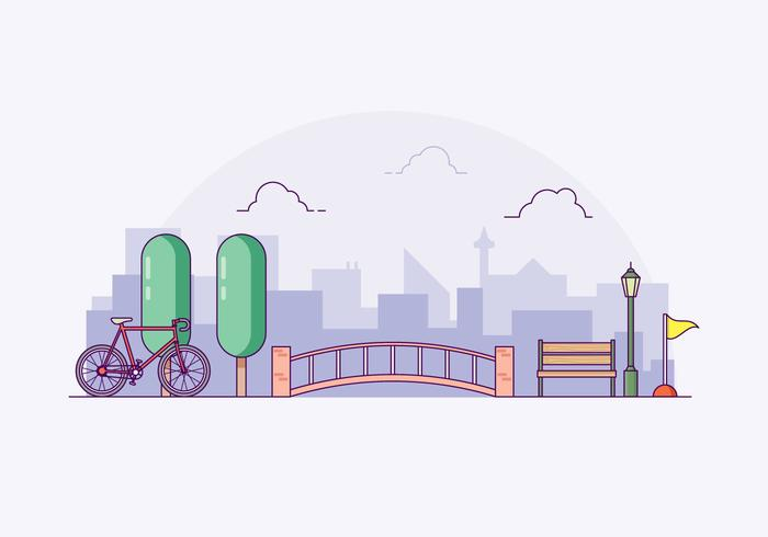 Free Bike Trail Illustration