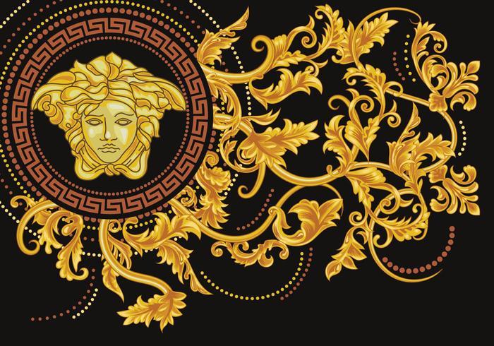 Asimétrica Vector la medusa de Versace  Descargue