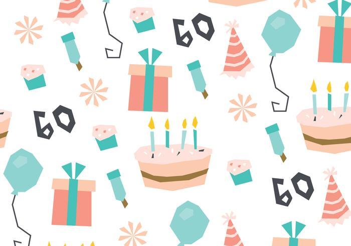 Süßer Geburtstag Muster