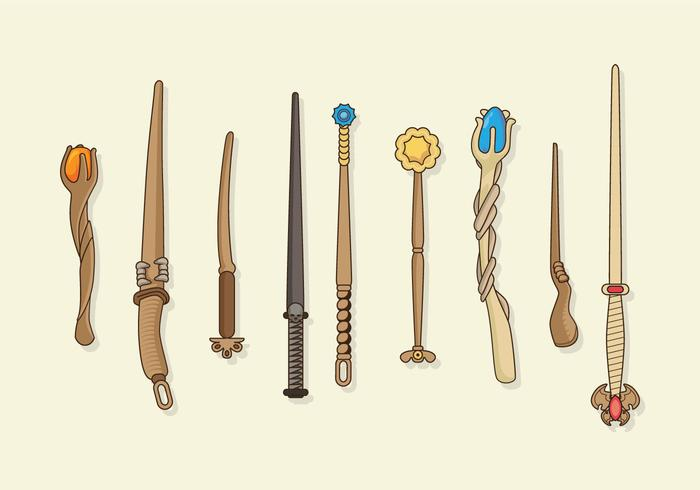Magic Stick Collection Vector