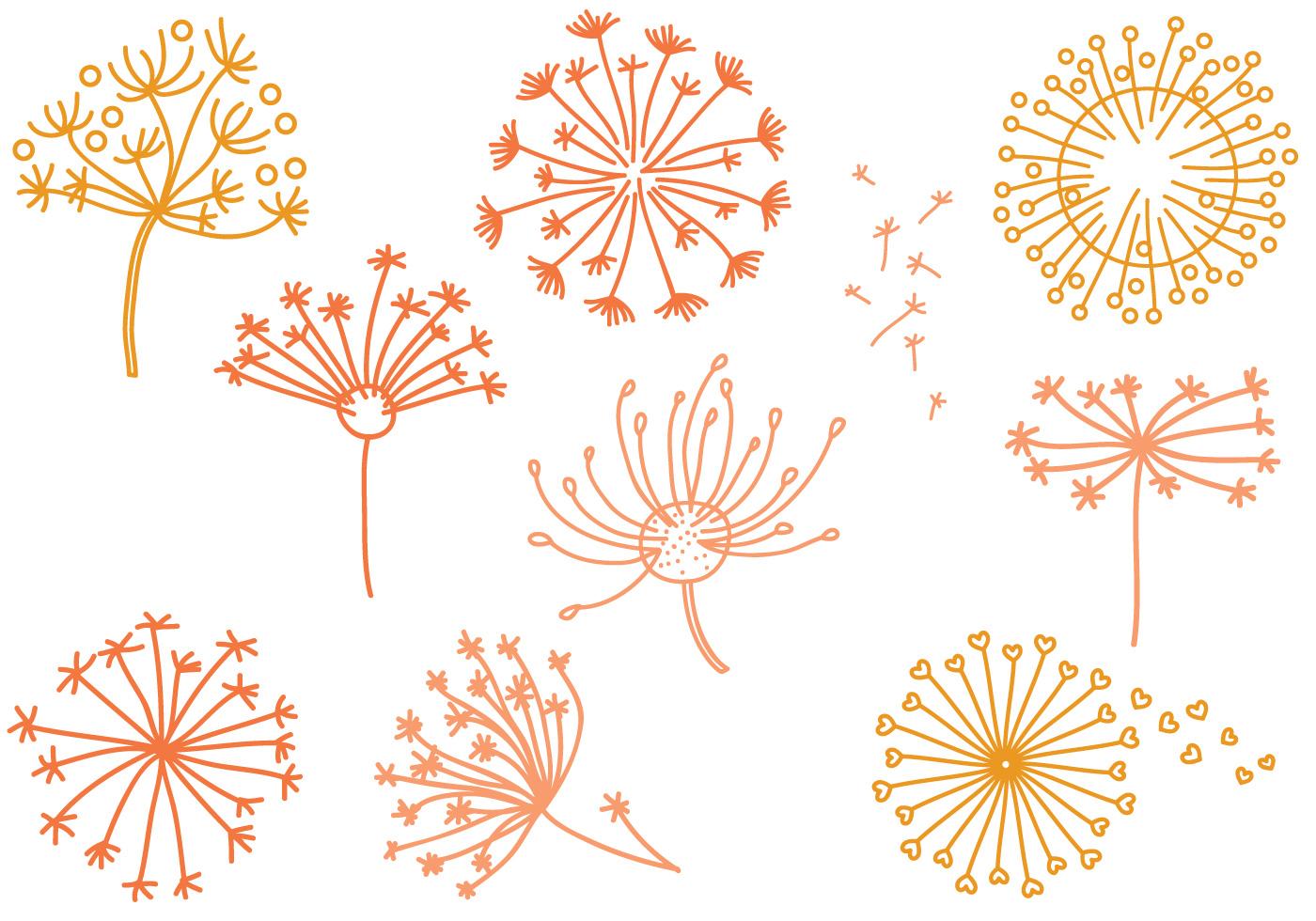 Free Dandelion Vectors Download Free Vector Art Stock