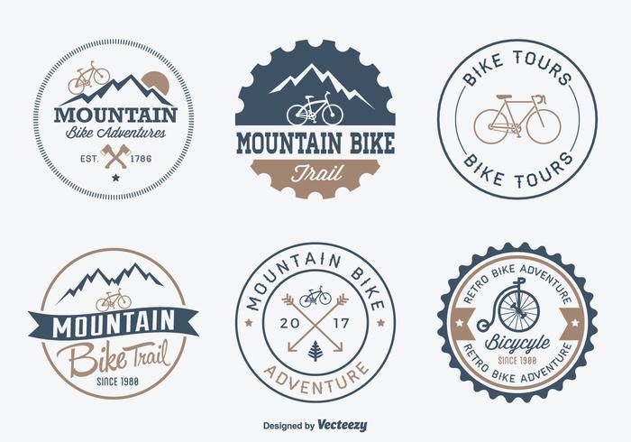 Bicicleta libre Aventura Placas de vectores