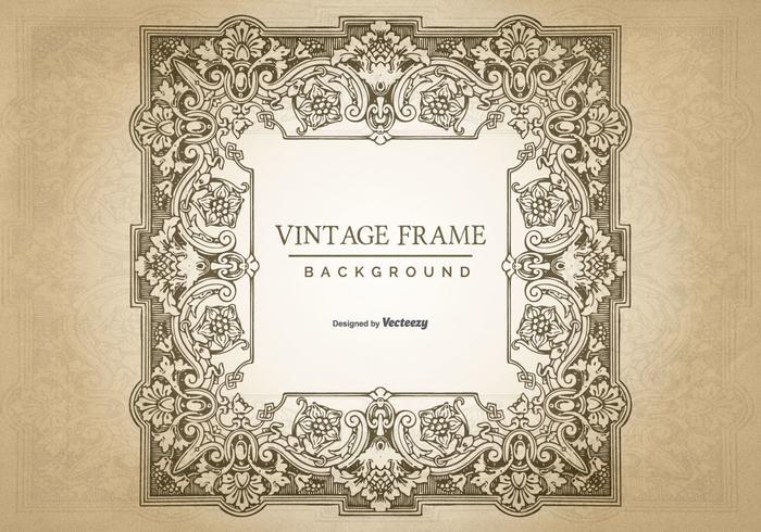 Vintage Grunge Frame Background