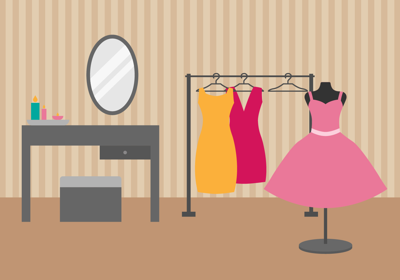 Free Dressing Room Vector Illustration Download Free