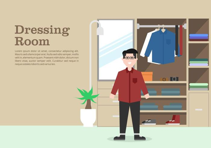 Mens Garderobe Achtergrond