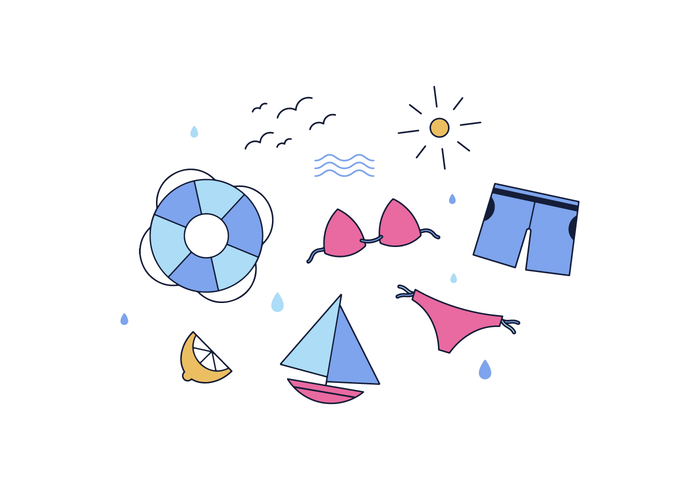 Free Beach Day  Vector