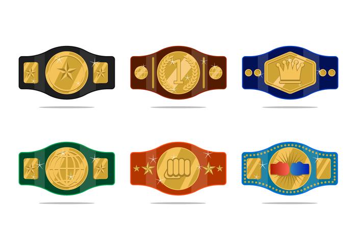 Realistische Championship Belt Vector