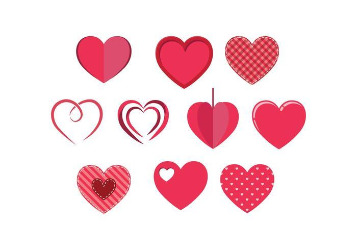 Fri Hearts Vektor