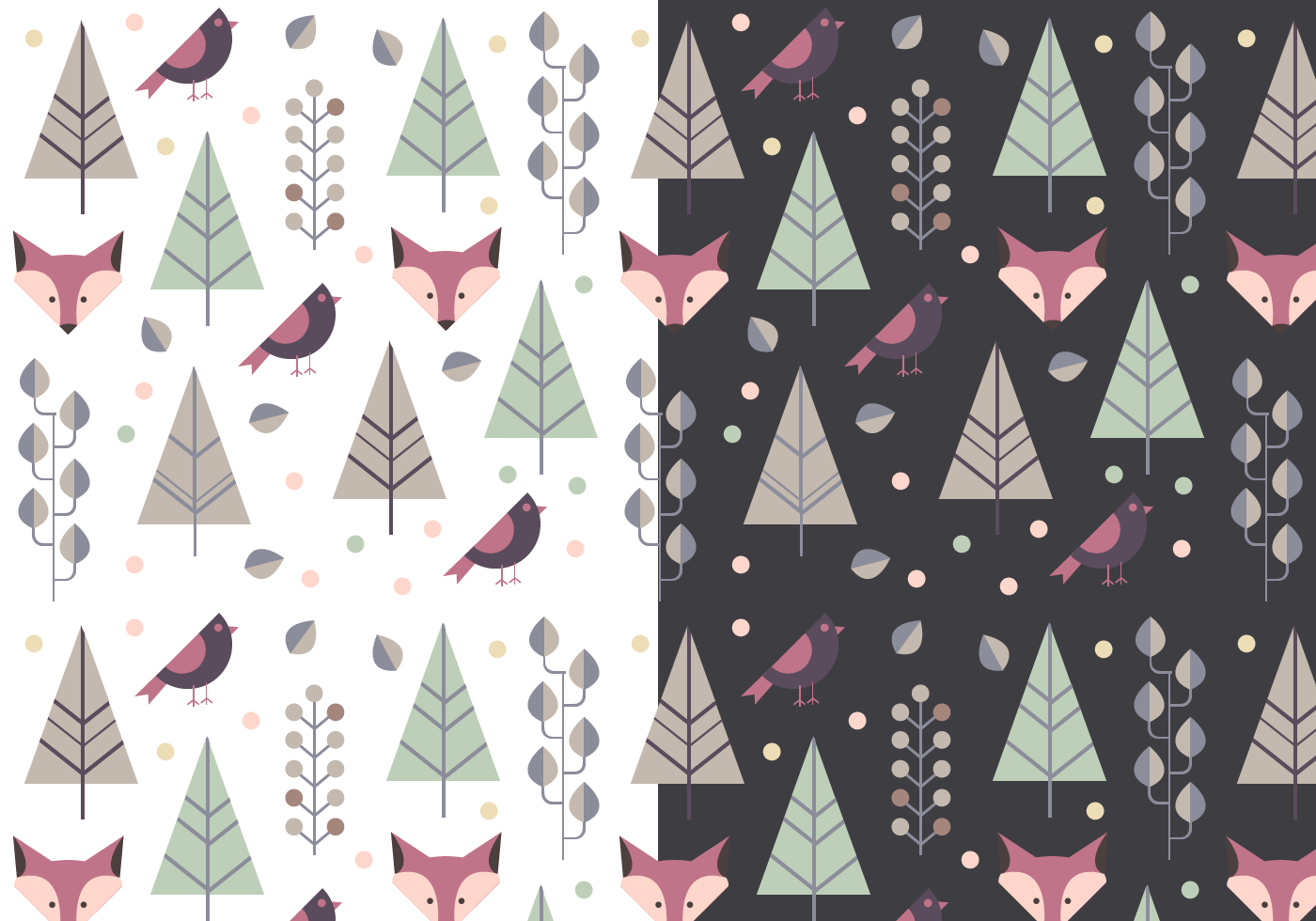 Free Animal Winter Pattern - Download Free Vectors ...