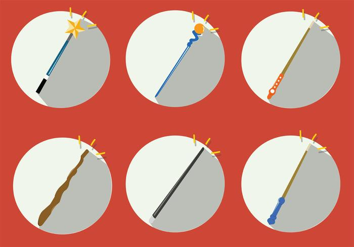 Magic Stick Vector Set