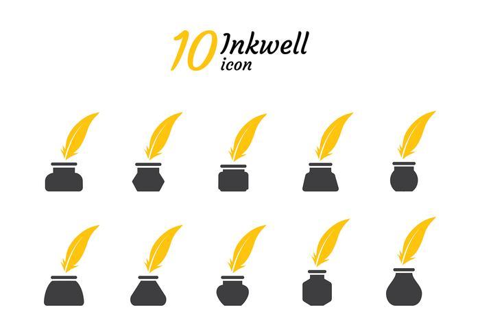 Inktpot Icon Silhouette Vector