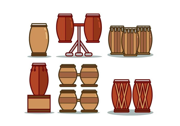 Conga Illustration Set