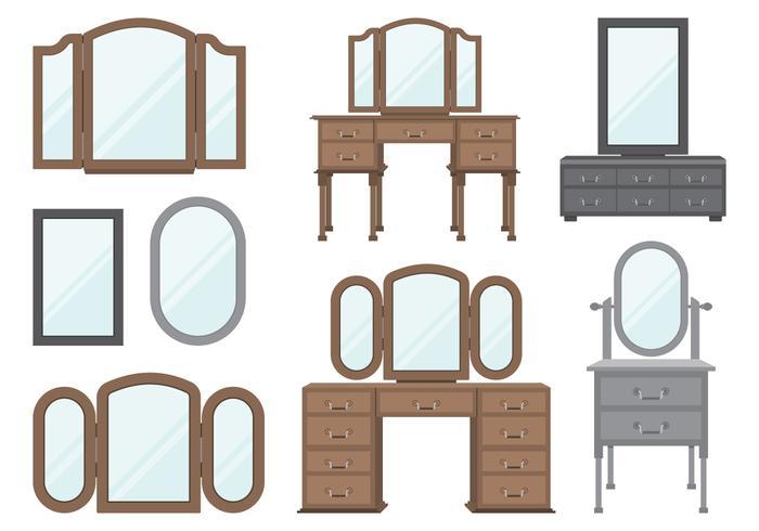Houten dressing tafels vector