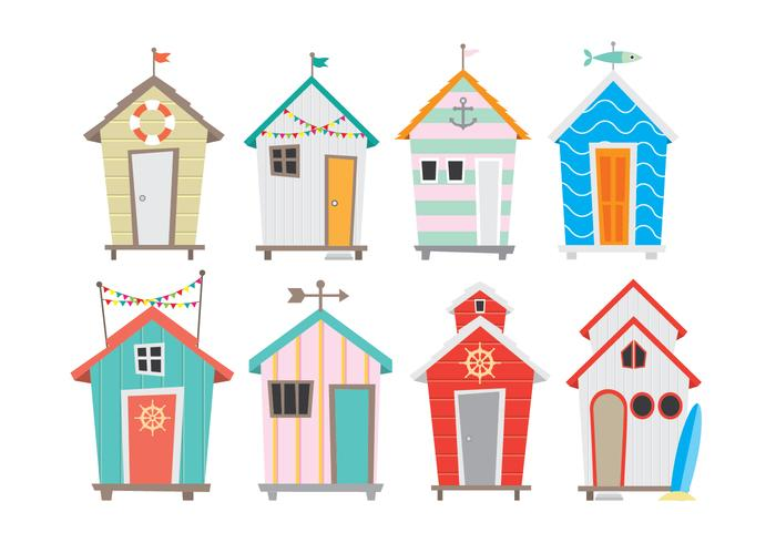Bright and Colorful Seaside Cabana Icons