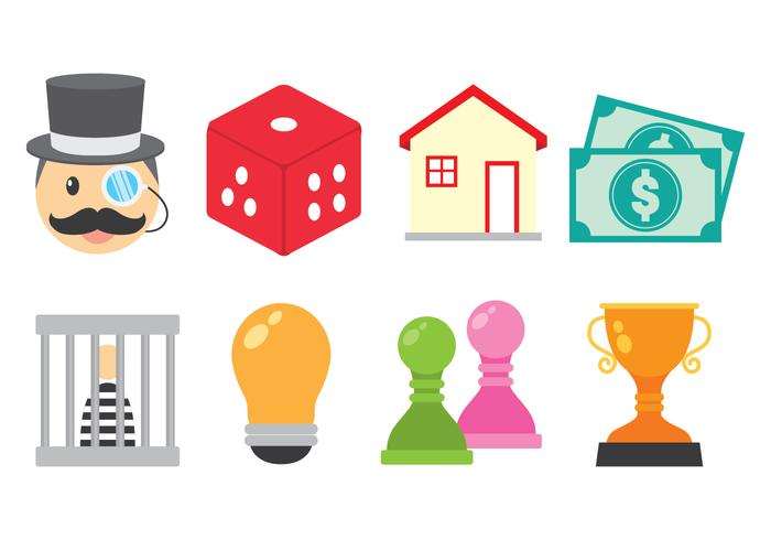 Bright Monopoly Icon Vectors