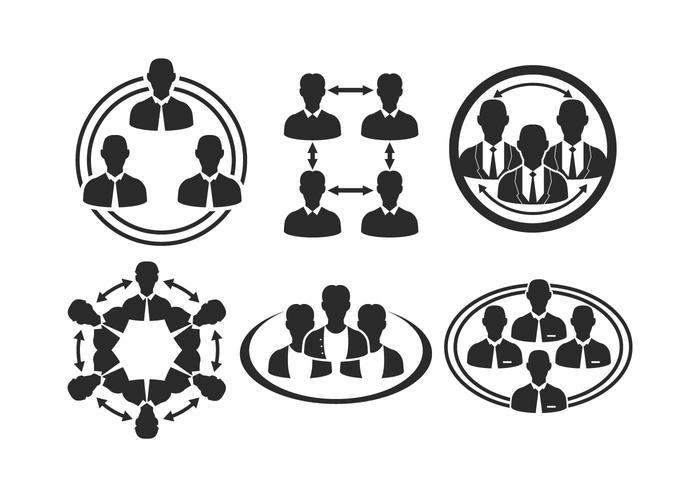 Working Together Icon Vector Set