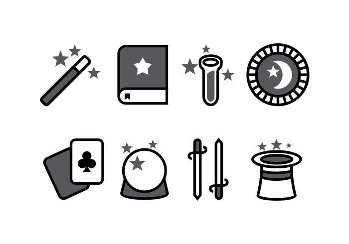 Magische icoon set