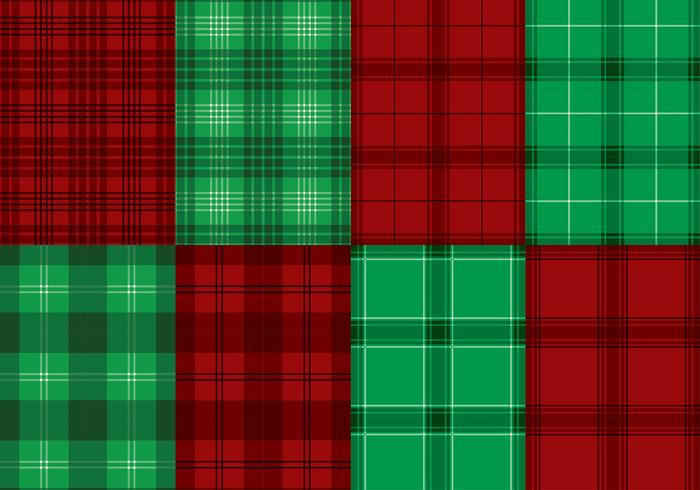 Flannel Red Green Texture Vector