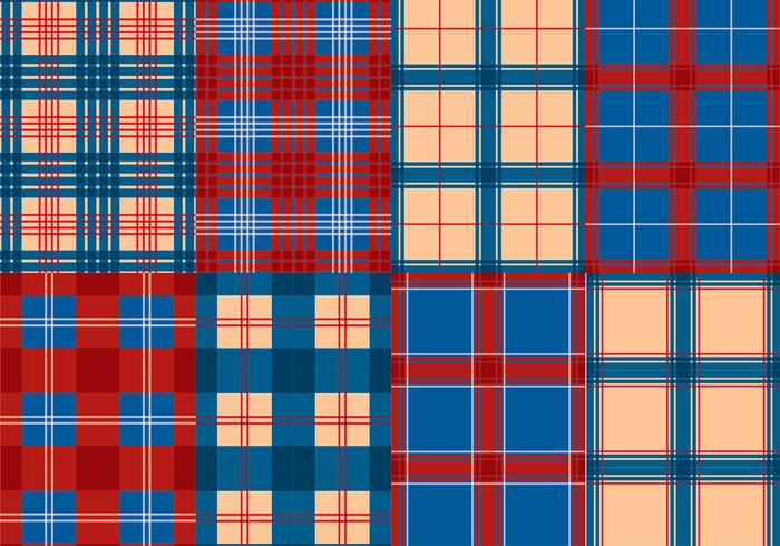 Flannel Red Blue Texture Vector