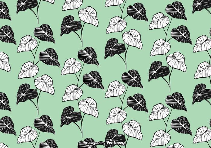 Elegante Blätter nahtlose Muster Vektor